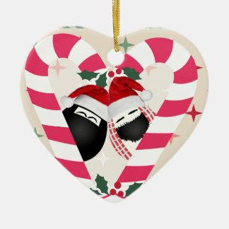 Feliz Natal HABIBI do ornamento do coração