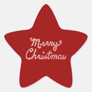 Feliz Natal listrado do bastão de doces Adesivos Estrelas