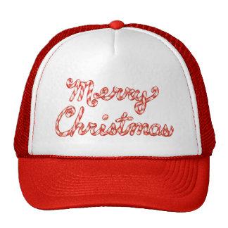 Feliz Natal listrado do bastão de doces Boné