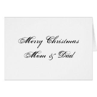 Feliz Natal mamã & cartão do pai