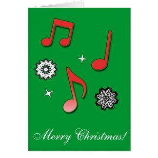 Feliz Natal música e elogio Cartão Comemorativo
