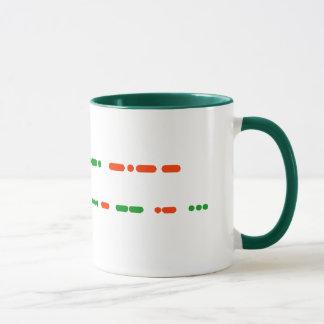 Feliz Natal na caneca do código Morse