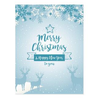 Feliz Natal & original elegante do feliz ano novo Cartão Postal