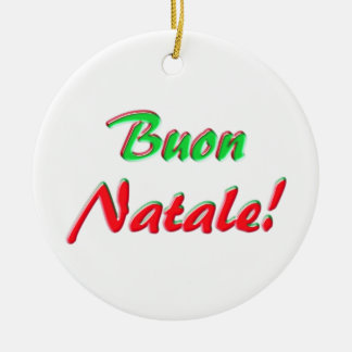 Feliz Natal Ornamento De Cerâmica Redondo