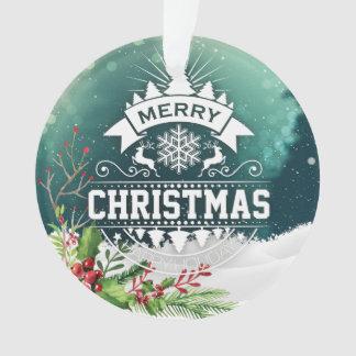 Feliz Natal & ornamento do feriado do feliz ano