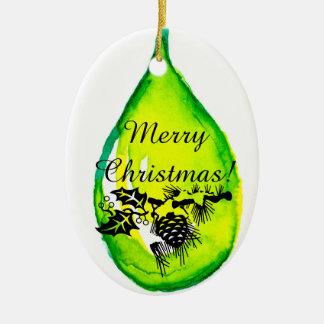 Feliz Natal! Ornamento dos óleos essenciais