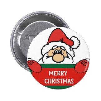 Feliz Natal Papai Noel Bóton Redondo 5.08cm