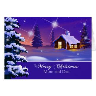 Feliz Natal para o cartão de Natal dos pais