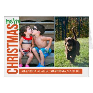 Feliz Natal para você x2 Cartão Comemorativo