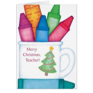Feliz Natal, professor Cartão Comemorativo