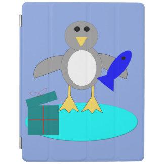 Feliz Natal que pesca a capa de ipad do pinguim