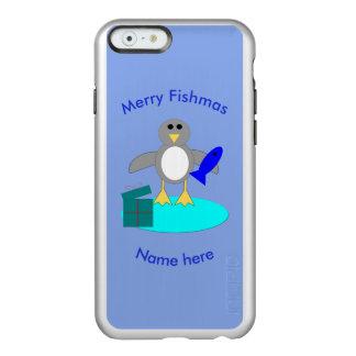 Feliz Natal que pesca capas de iphone do pinguim