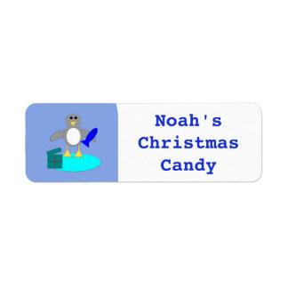 Feliz Natal que pesca etiquetas feitas sob