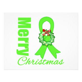 Feliz Natal R da consciência do linfoma de Non-Hod Panfleto Coloridos