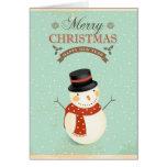 Feliz Natal retro do feliz ano novo dos bonecos de Cartão