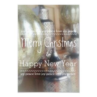 Feliz Natal rústico & cartões do feliz ano novo Convite 8.89 X 12.7cm
