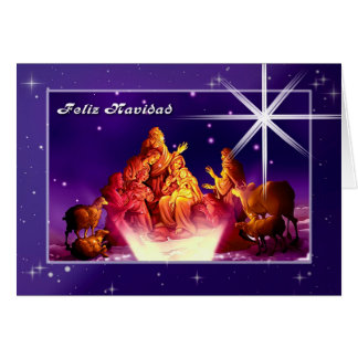 Feliz Navidad. Cartão customizável espanhol