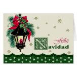 Feliz Navidad. Cartão de Natal espanhol