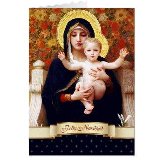 Feliz Navidad. Cartão de Natal espanhol das belas