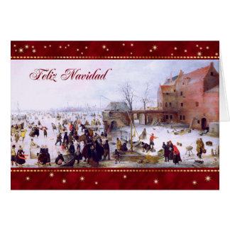 Feliz Navidad. Cartões espanhóis do Natal