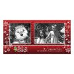 Feliz Navidad - collage de 2 fotos Cartão Com Foto