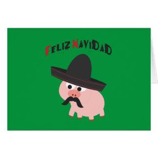 Feliz Navidad! Porco Cartoes