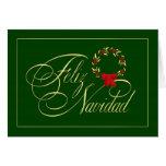 Feliz Navidad - tarjetas espanhóis - cartões de na