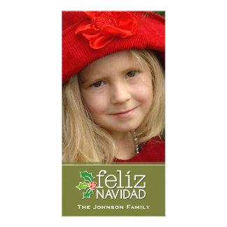 Feliz Navidad: Uma grande foto Cartoes Com Foto Personalizados