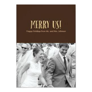 Feliz nós! Cartão-Brilho & chocolate da foto do Convite 12.7 X 17.78cm