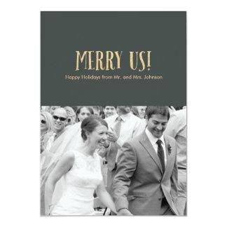 Feliz nós! Cartão-Brilho & cimento da foto do Convite 12.7 X 17.78cm