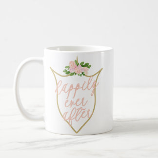 Feliz nunca após a caneca de café cor-de-rosa da