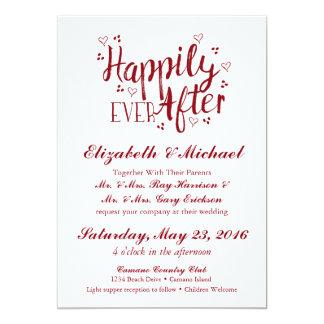 Feliz nunca após Wedding o convite