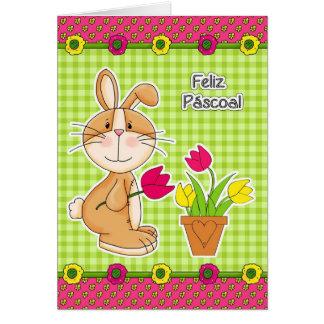 Feliz Páscoa Cartões de páscoa portugueses custom