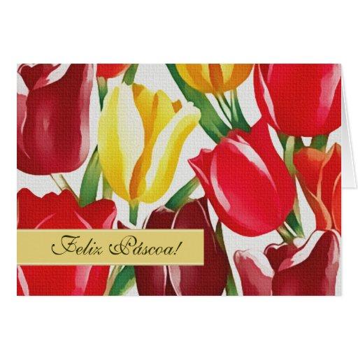 Feliz Páscoa. Cartões de páscoa portugueses custom