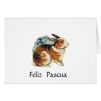 Feliz Pascua, felz pascoa no espanhol Cartão Comemorativo