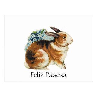 Feliz Pascua felz pascoa no espanhol Cartões Postais