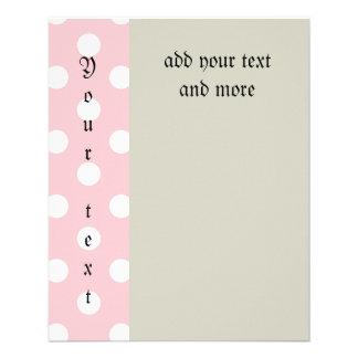 Feliz, rosa do pó, bolinhas, branco, feminino, panfleto personalizados