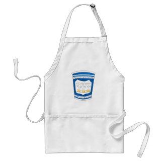 Feliz servir-lo avental grego do copo de café do