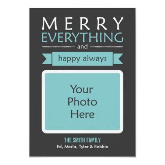 Feliz tudo cartão com fotos convite personalizados
