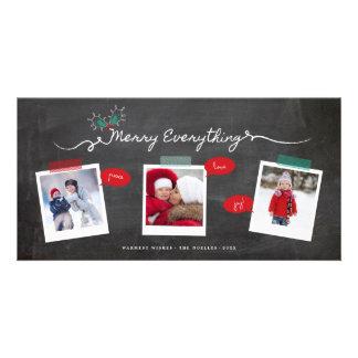 Feliz tudo cartão com fotos do feriado do quadro cartão com foto