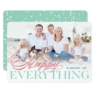Feliz tudo cartão com fotos moderno clássico do