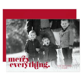 Feliz tudo cartão com fotos vermelho & do branco |