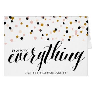 Feliz tudo cartão do feriado dos confetes  