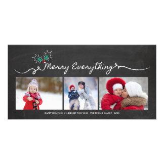Feliz tudo cartões de natal do quadro cartão com foto