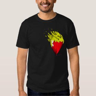 Feltro do coração camiseta