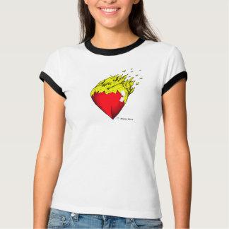 Feltro do coração t-shirt