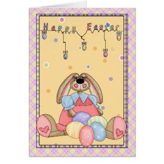 Felz pascoa - coelhinho da Páscoa e ovos da páscoa Cartão Comemorativo