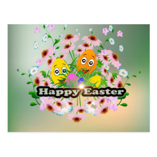 Felz pascoa com ovos da páscoa engraçados cartão postal