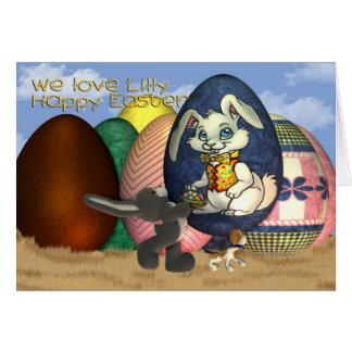 Felz pascoa de Lilly do Goddaughter Cartão Comemorativo