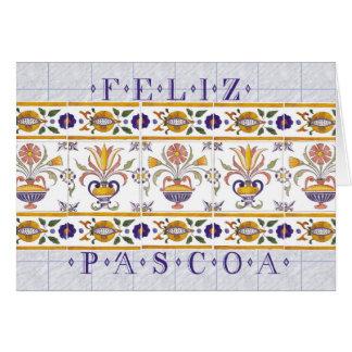 Felz pascoa no português cartão